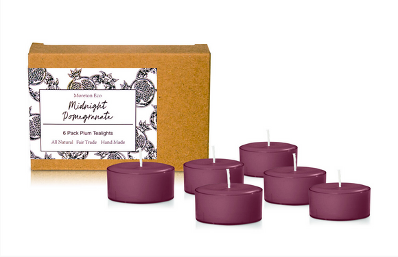 Midnight Pomegranate - Moreton Eco 6 Pack Tealights