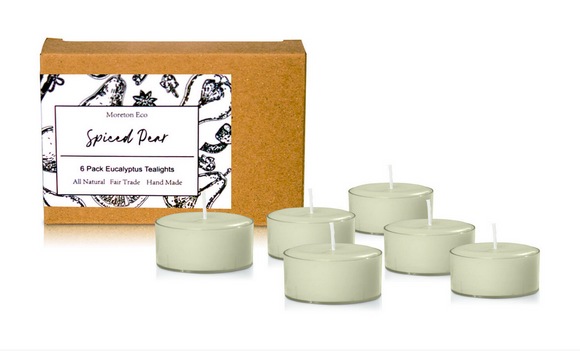 Spiced Pear - Moreton Eco 6 Pack Tealights