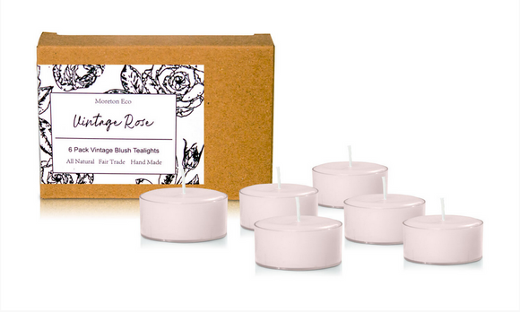 Vintage Rose - Moreton Eco 6 Pack Tealights