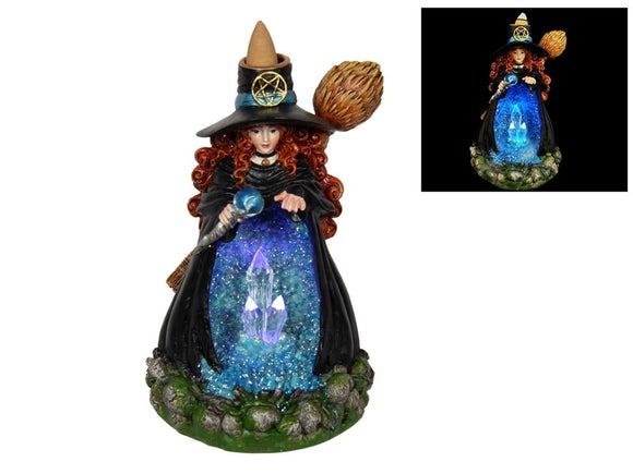 Witch Light Up Crystal Cave Back flow Incense Burner