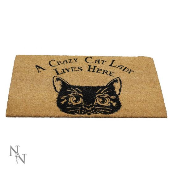 Crazy Cat Lady Lives Here Doormat 45 x 75cm