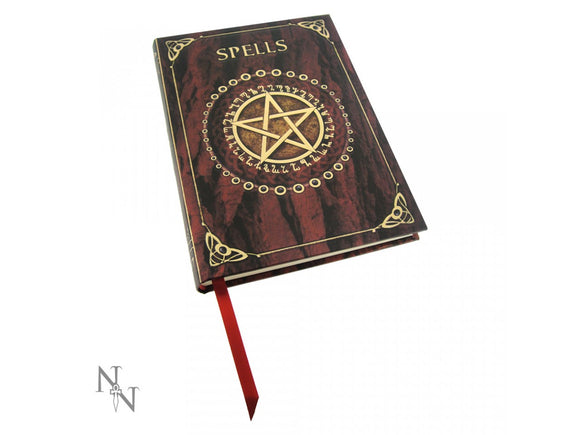 Embossed Spell Book - Red 17cm
