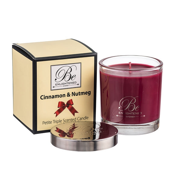 Cinnamon & Nutmeg Petite - Be Enlightened Candle 100g