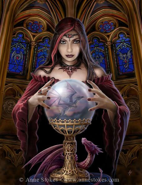 Crystal Ball - Anne Stokes Canvas Small