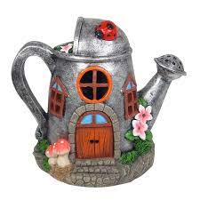 Solar Fairy House Watering Can 20cm