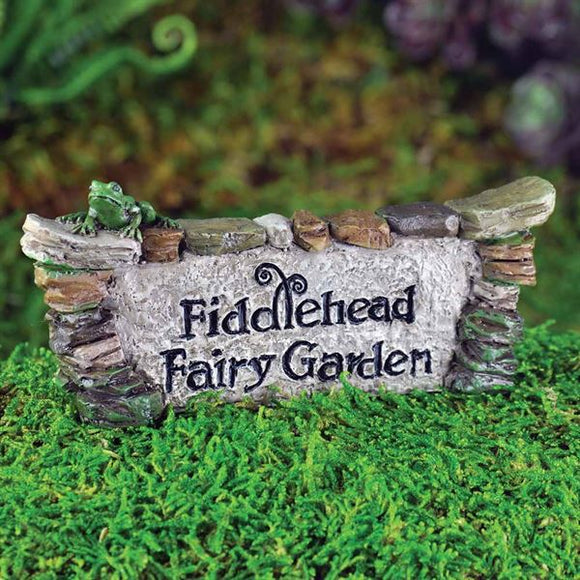 Fiddlehead Fairy Garden Sign