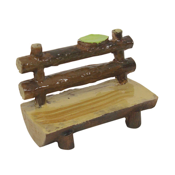 Log Bench Seat Fairy Garden 6.5cm