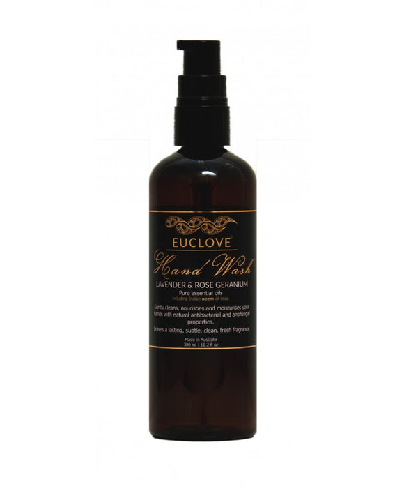 Euclove Hand Wash Lavender and Rose Geranium 300ml
