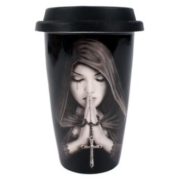 Gothic Prayer - Anne Stokes Travel Mug