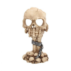 Deliberation Skull Tealight Holder 15.5cm