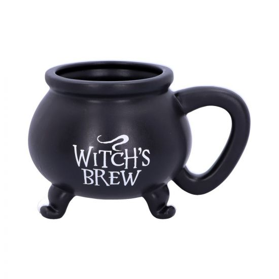 Smooth Black Witch's Brew Cauldron Mug