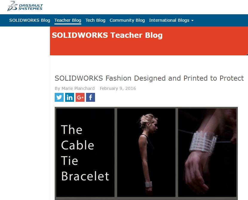 SOLIDWORKS Fashion Designed and Printed to Protect
