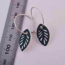 Load image into Gallery viewer, DEEP SEA GREEN LEAF EARRINGS 50%OFF...