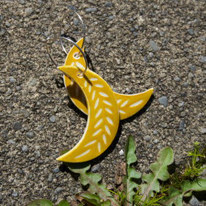MOON EARRINGS mustard yellow