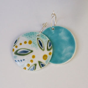Large Disc Ceramic Earrings