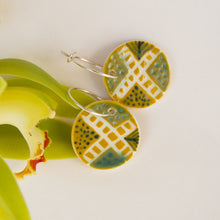 Load image into Gallery viewer, Disc Earrings - Ochre Yellow