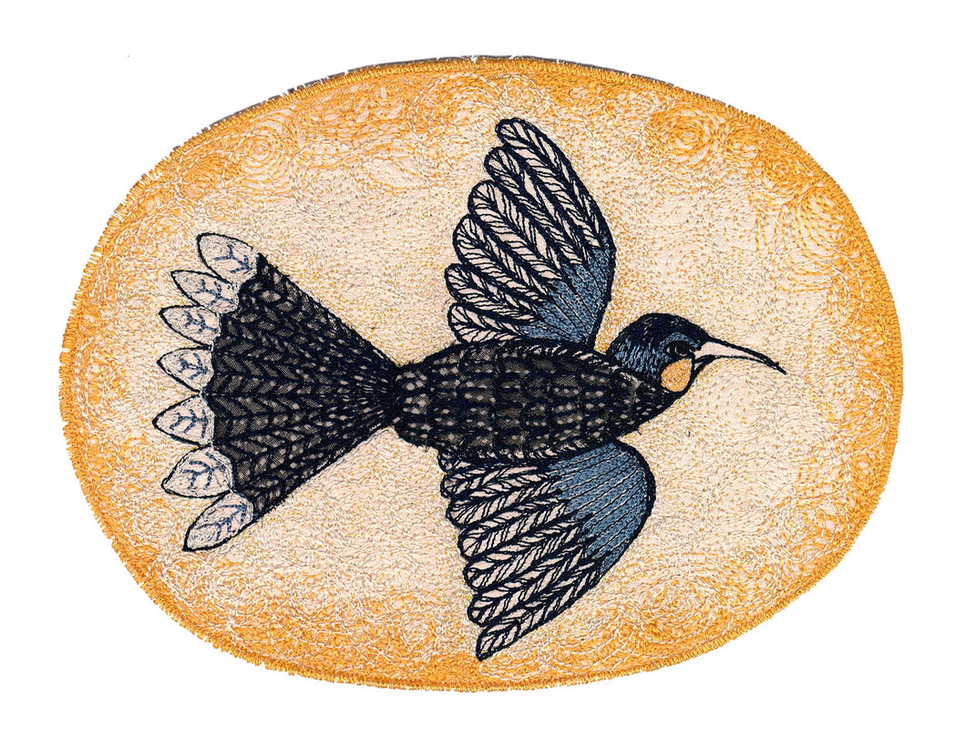 'ON THE WING - HUIA' Textile Print