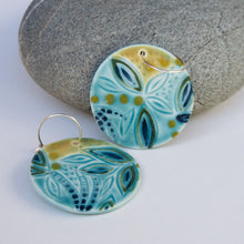 Load image into Gallery viewer, Large Disc Earrings
