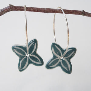 SEA GREEN PACIFICA EARRINGS 50%OFF...