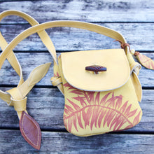 Load image into Gallery viewer, MINI SATCHEL - yellow Kauri print