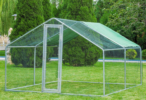 Metal Mesh Chicken Coop Run 6M x 3M