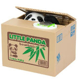 Mischief Saving Box Little Panda dog cat Steal Money Toy Funny Animals Panda Automatic Electric Stole Coin Piggy Bank As Gift