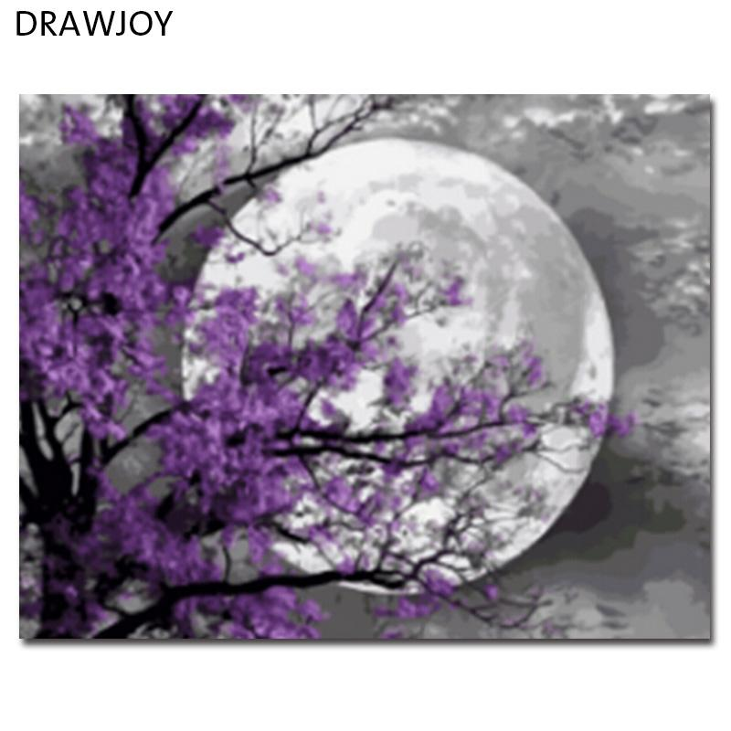 DRAWJOY Framed Landscape Picture DIY Oil Painting By Numbers Painting&Calligraphy Home Decor Wall Art GX21587 40x50cm