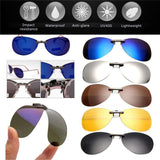 🚵High quality Unisex Polarized Clip On Sunglasses + Driving at Night Anti-UVA Anti-UVB + cycling riding🕶️