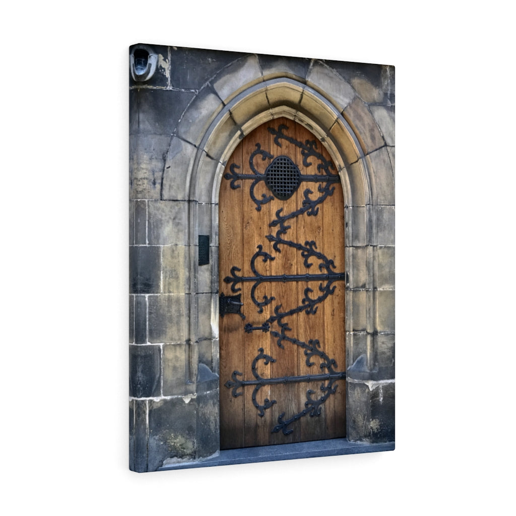 Medieval Door Canvas Print, Prague, Czech Republic
