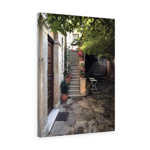 Athens Courtyard Canvas Print, Athens, Greece