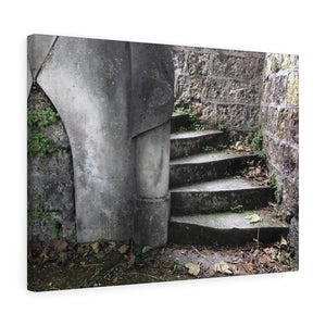 Paris Cemetery Staircase Canvas Print, Paris France