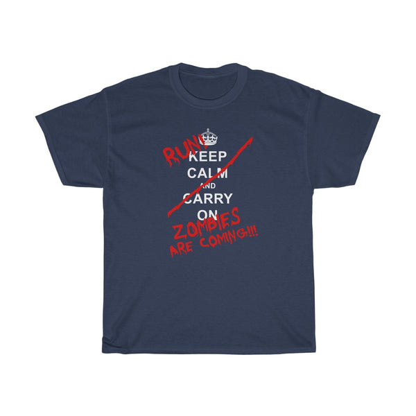 Keep Calm Run Zombies are Coming - Men's T-Shirt - FREE shipping in US