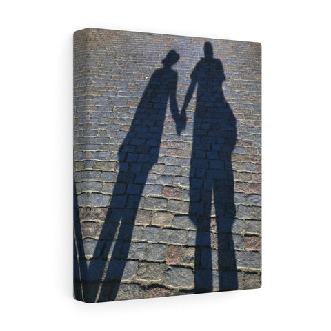 Holding Hands on the Charles Bridge Canvas Print, Prague, Czech Republic