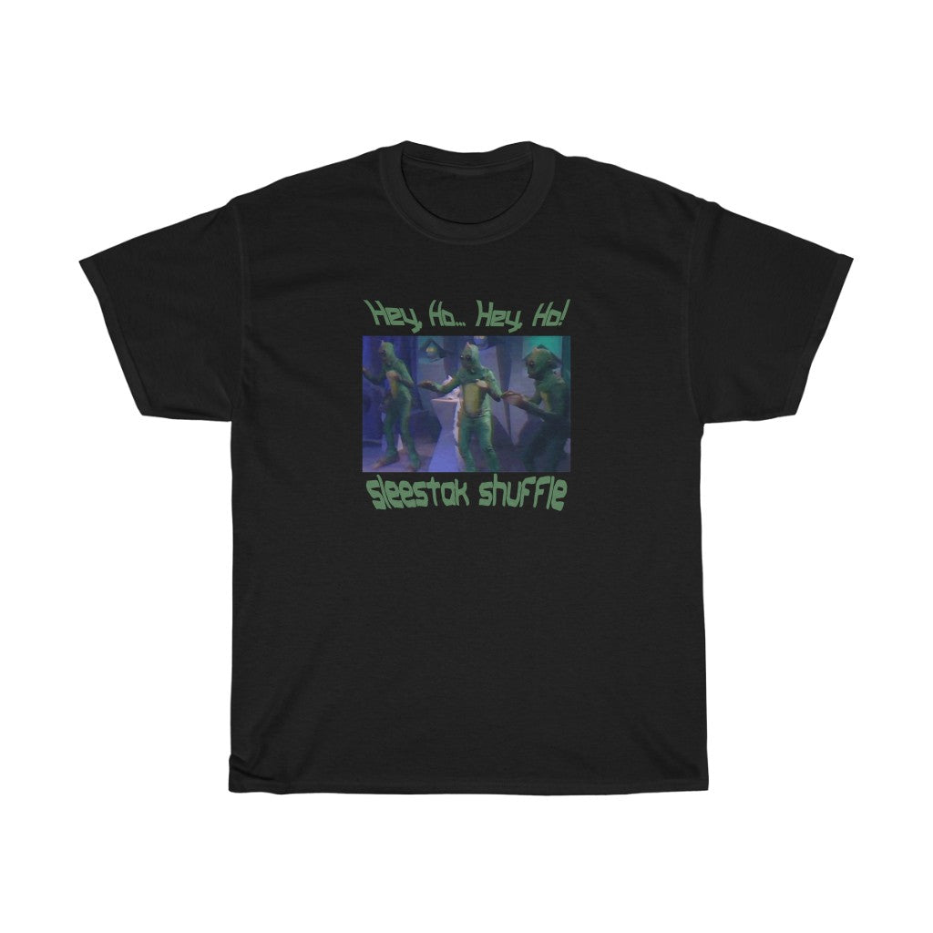 Sleestak Shuffle Land of the Lost Parody - Men's T-Shirt - FREE shipping in US
