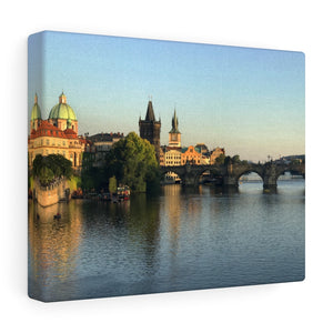 Charles Bridge at Sunset Canvas Print, Prague, Czech Republic