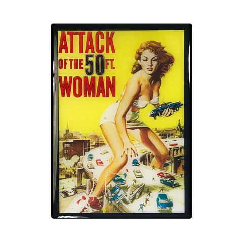 Attack of the 50ft Woman Vintage Movie Poster Magnet