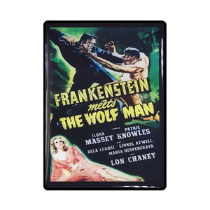 Frankenstein Meets Wolf Man Vintage Movie Poster Magnet