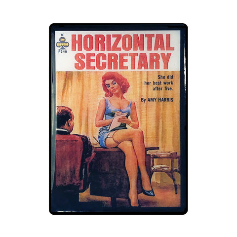 Horizontal Secretary Pulp Novel Magnet