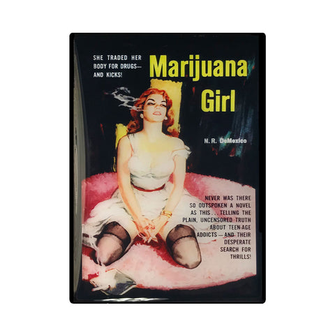 Marijuana Girl Pulp Novel Magnet