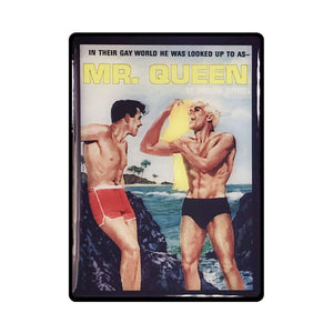 Mr Queen Pulp Novel Magnet