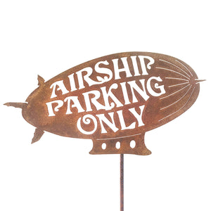 Airship Parking Only Garden Stick Sign
