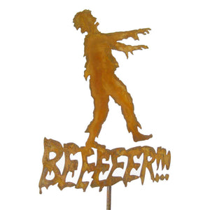 Beer Zombie Garden Stick Sign