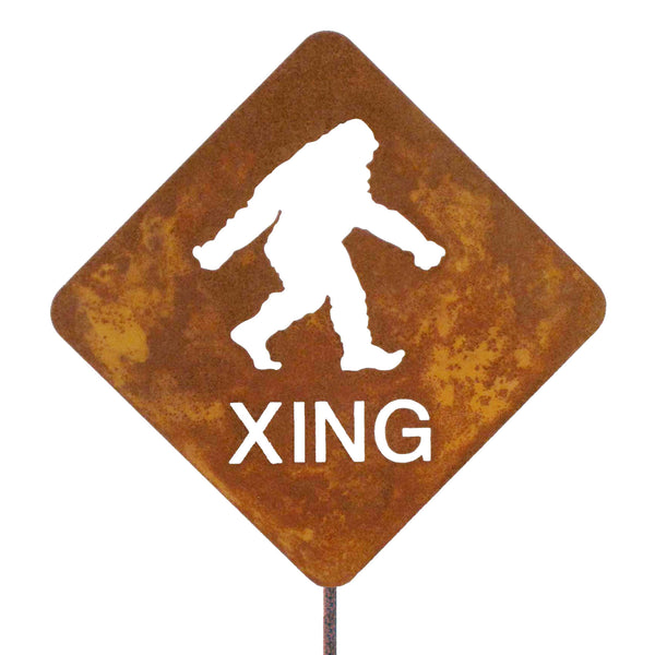 Bigfoot XING Garden Stick Sign