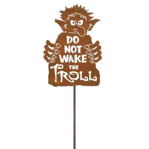 Do Not Wake The Troll Garden Stick Sign