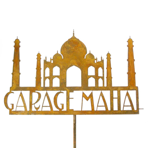 Garage Mahal Garden Stick Sign
