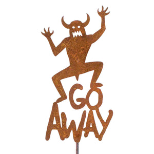 Go Away Garden Stick Sign