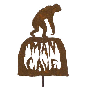 Man Cave Garden Stick Sign