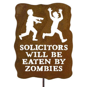 Solicitors Will Be Eaten By Zombies Garden Stick Sign