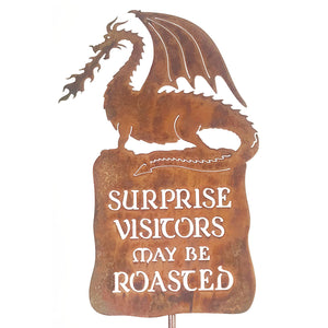 Surprise Visitors Roasted Garden Stick Sign