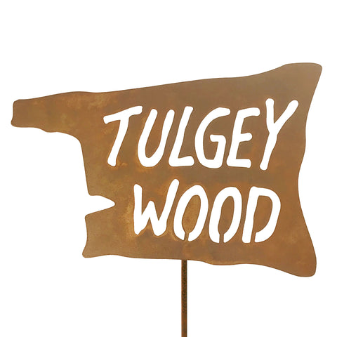 Tulgey Wood Garden Stick Sign